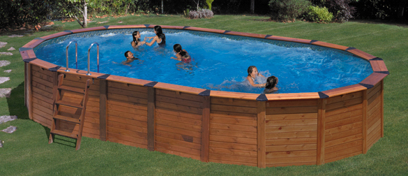Piscina desmontable lona for Piscinas ovaladas desmontables