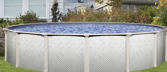 Piscinas de acero galvanizado desmontables modelo riviera for Piscinas de acero galvanizado