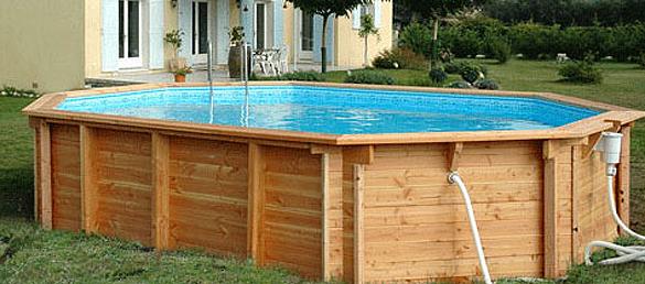 Piscina de madera modelo bilbao la web de las piscinas for Madera para piscinas