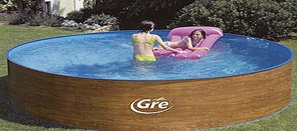 Piscina acero imitaci n madera gre la web de las piscinas elevadas - Piscina desmontable acero ...