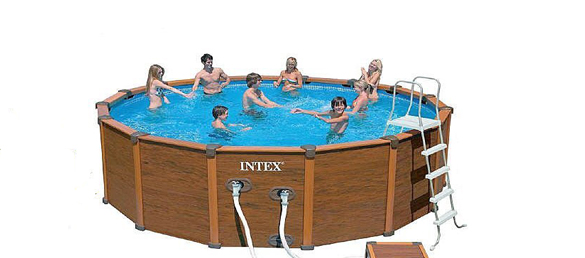 Piscina de madera de intex sequoia spirit la web de las for Piscinas portatiles precios