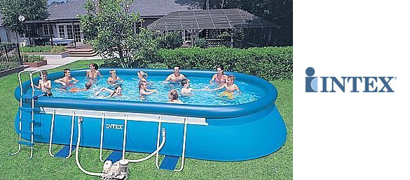 Piscina desmontable ellipse de intex la web de las for Piscinas desmontables intex