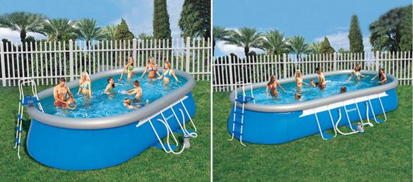 Piscina de pvc oval de bestway la web de las piscinas for Montaje piscina bestway