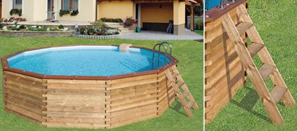 Piscina de madera beluga redonda la web de las piscinas - Piscinas desmontables de madera ...