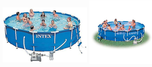 Piscina desmontable metal frame de intex la web de las for Piscinas desmontables intex