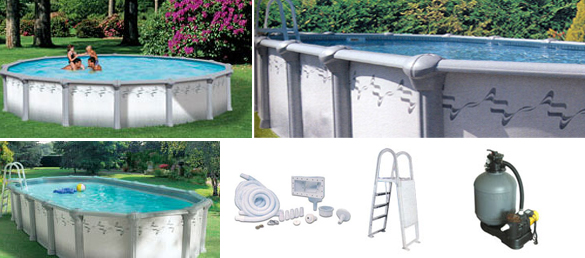Piscina elevada de acero modelo coralina la web de las piscinas elevadas - Piscinas de acero galvanizado ...