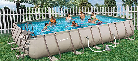 Piscina rectangular frame pools de bestwaypiscinas - Montaje piscina bestway ...