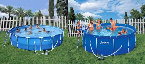 Piscina desmontable circular de bestway la web de las for Montaje piscina bestway