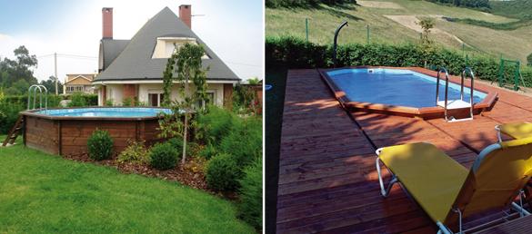 Piscinas de madera acual piscinas elevadas piscinas elevadas - Piscinas elevadas de madera ...