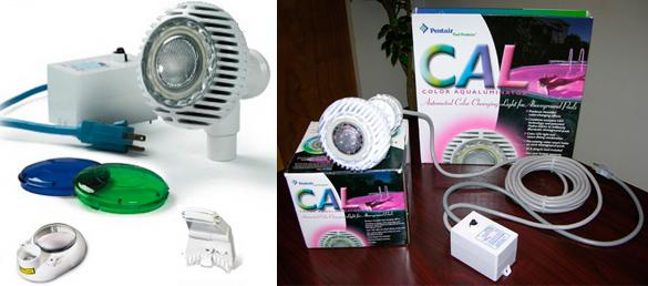 Iluminación halógena y retorno de agua para piscinas elevadas  AquaLuminator®