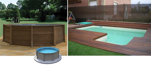 Piscina de madera o imitaci n maderapiscinas elevadas for Madera para piscinas