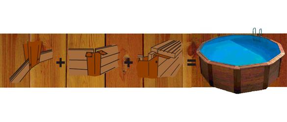 Detalle montaje piscina de madera Nativa, de Toi