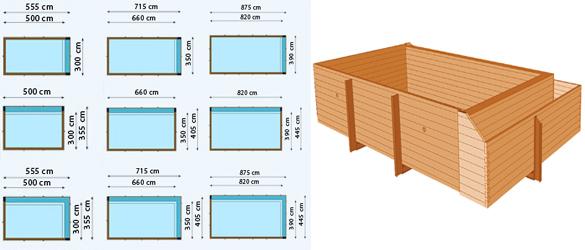Piscinas desbordantes de madera gardipool la web de las - Estructura de madera para piscina ...