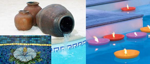 Elementos decorativos para tu piscina