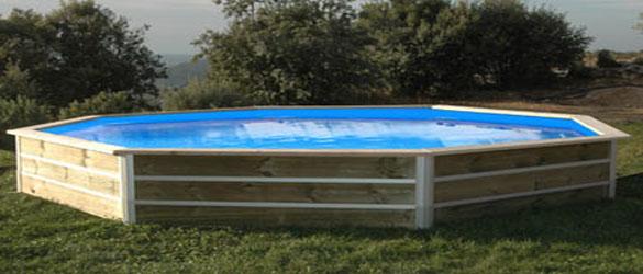 Piscina de madera water clip baby la web de las piscinas - Piscinas desmontables de madera ...