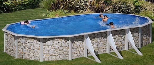 Piscina elevada en piedra de iraklion la web de las for Estructura para piscina