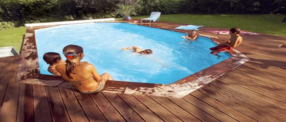 Piscina de madera procopi la web de las piscinas elevadas - Piscinas de madera semienterradas ...