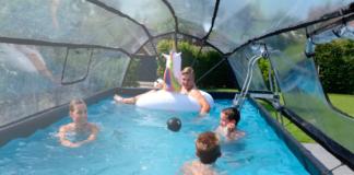 Piscinas elevadas for Cubierta piscina desmontable